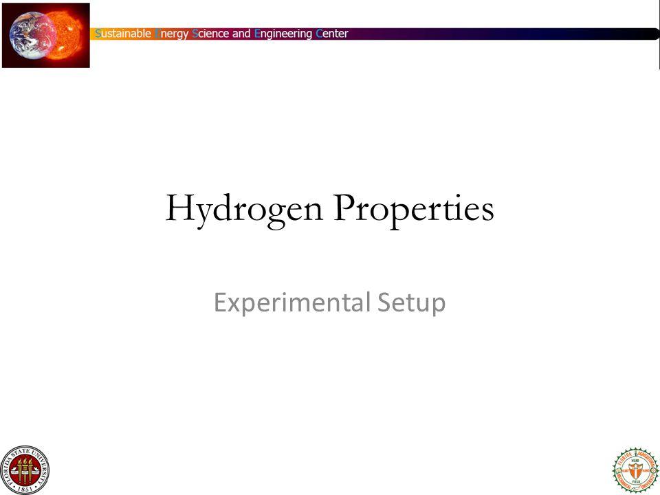 Hydrogen Properties Experimental Setup