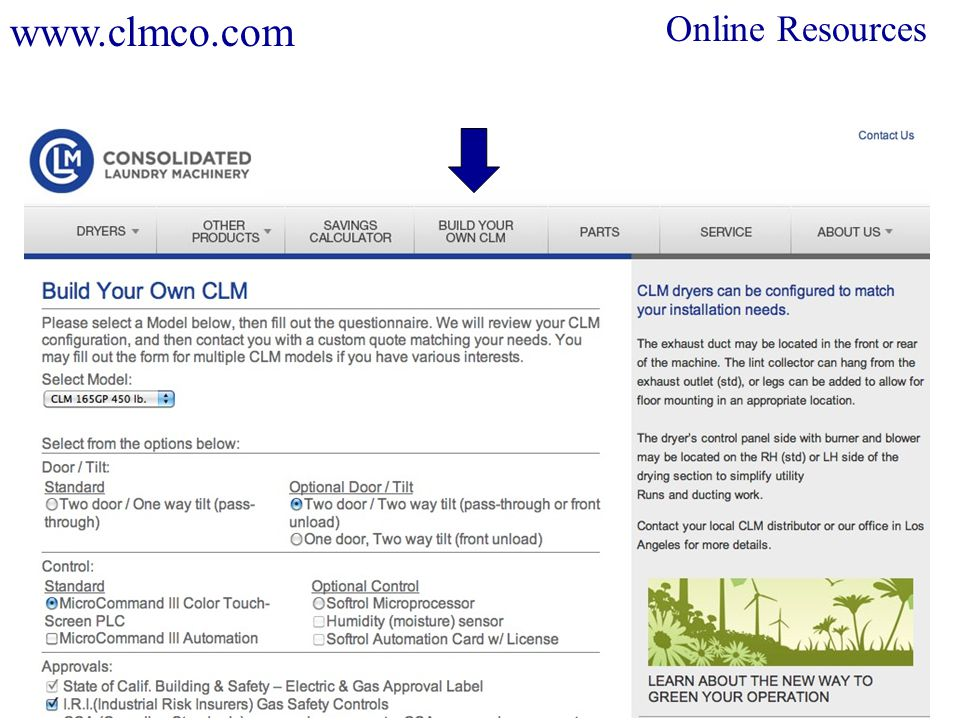Online Resources www.clmco.com
