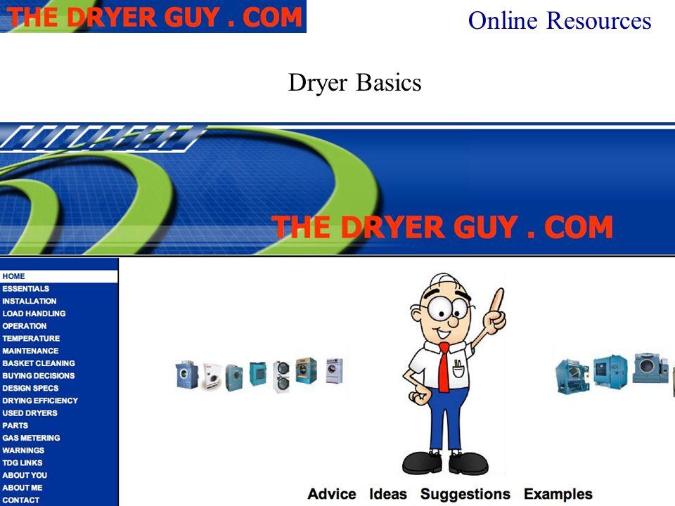 Dryer Basics Online Resources