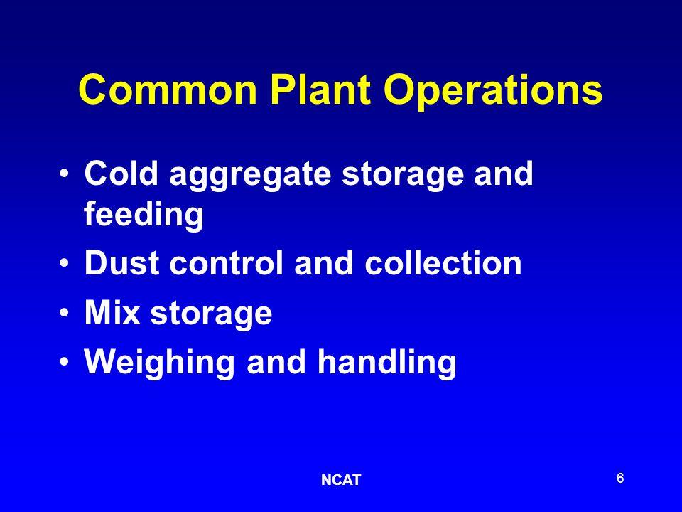 NCAT 27 Schematic of a batch plant