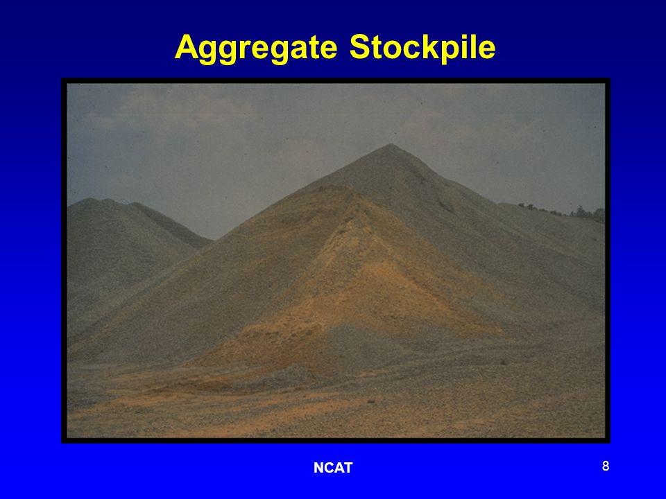 NCAT 8 Aggregate Stockpile