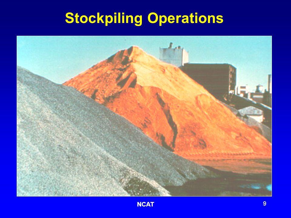 NCAT 10 Cold Feed BINS Conveyor Belts