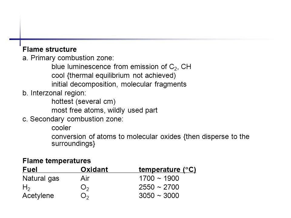 Flame structure a.