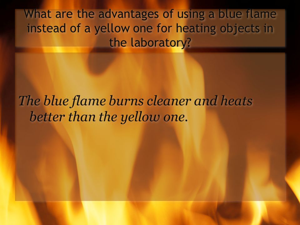 Where is the hottest part of the blue flame? The hottest part is just about the inner blue cone.