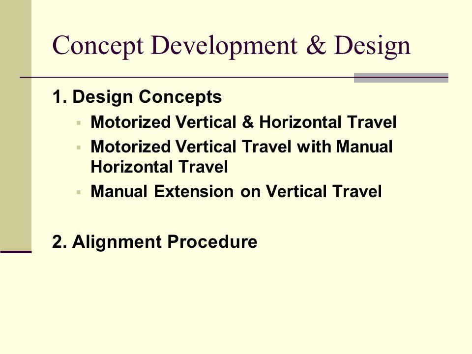 Concept Development & Design 1.