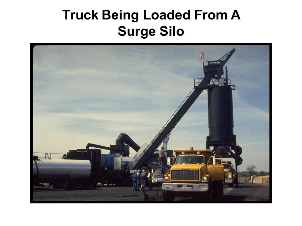 Truck Being Loaded From A Surge Silo