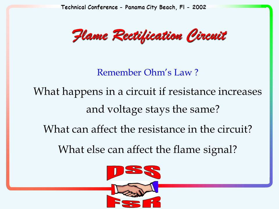 Technical Conference - Panama City Beach, Fl - 2002 Remember Ohm's Law .