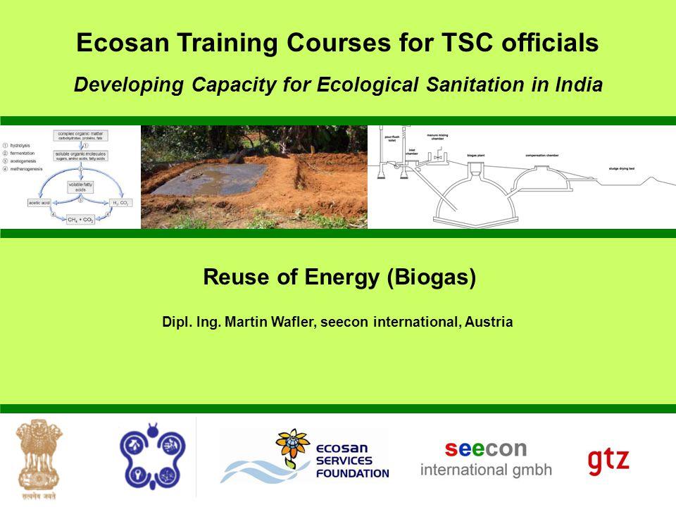 Reuse of Energy (Biogas) Dipl.Ing.