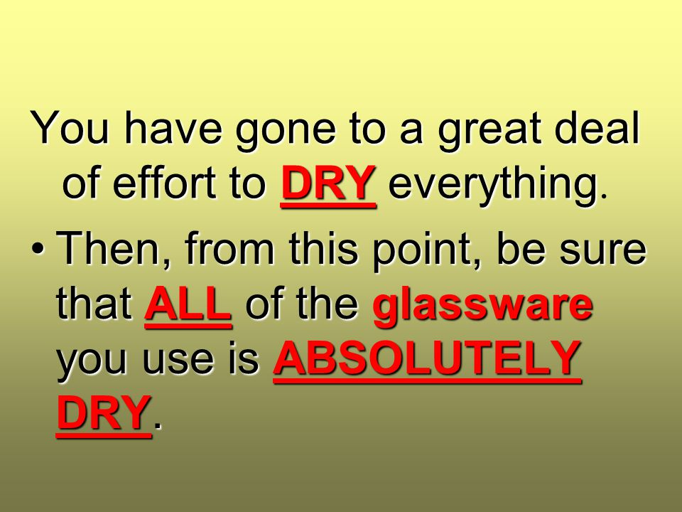 You have gone to a great deal of effort to DRY everything You have gone to a great deal of effort to DRY everything. Then, from this point, be sure th