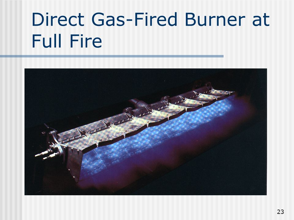 Direct Gas-Fired Burner at Full Fire 23