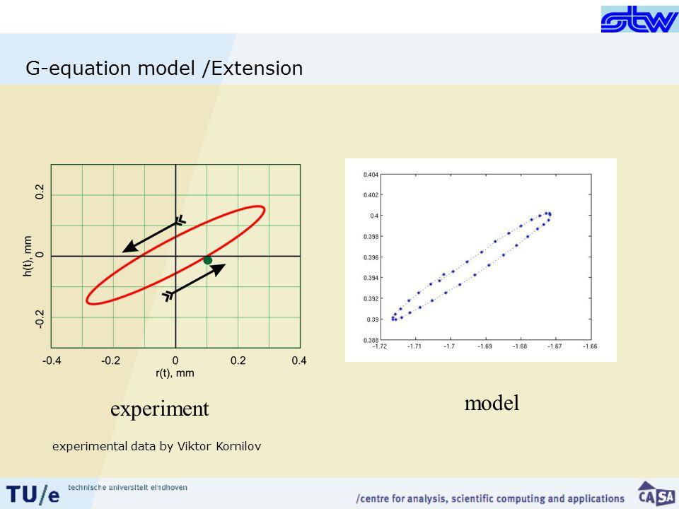 G-equation model /Extension experiment model experimental data by Viktor Kornilov