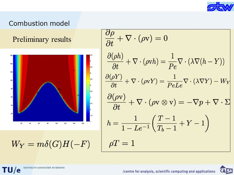 Combustion model Preliminary results