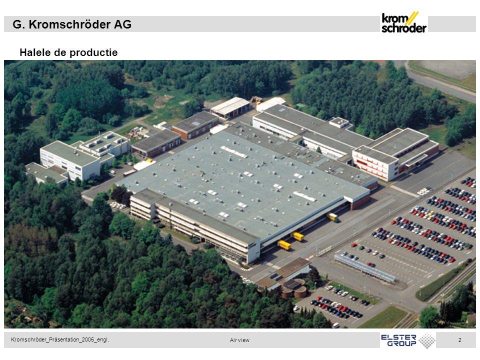 G. Kromschröder AG Kromschröder_Präsentation_2005_engl. 2 Halele de productie Air view