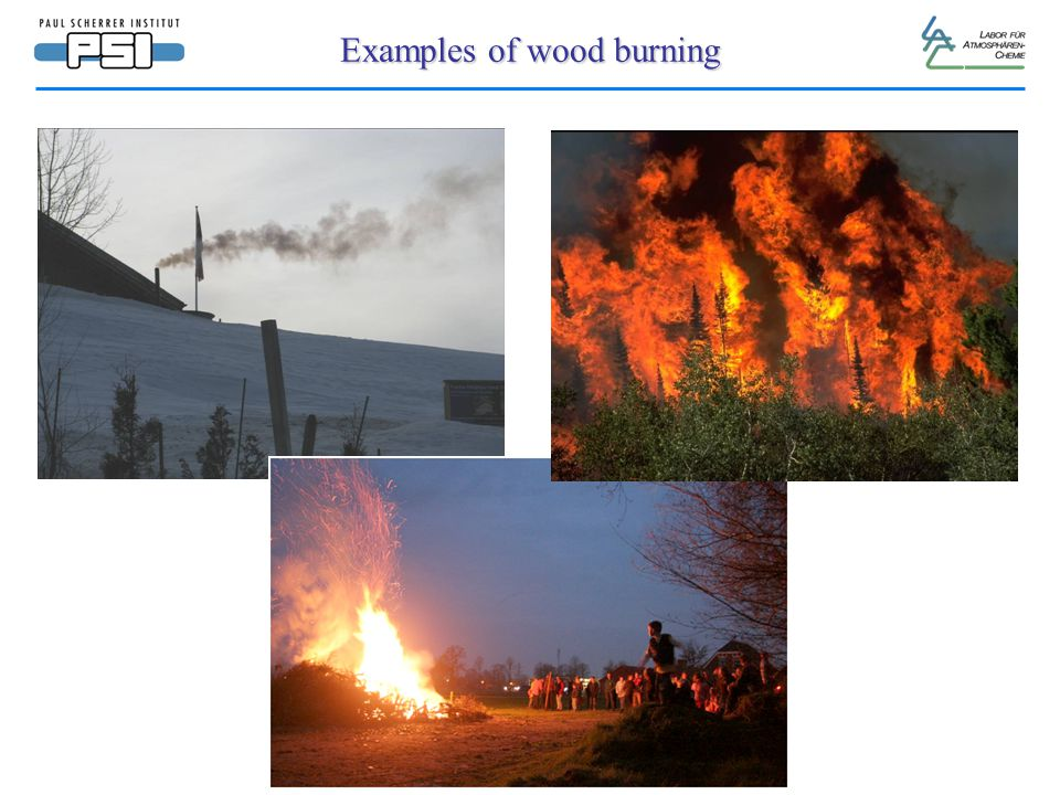 Examples of wood burning