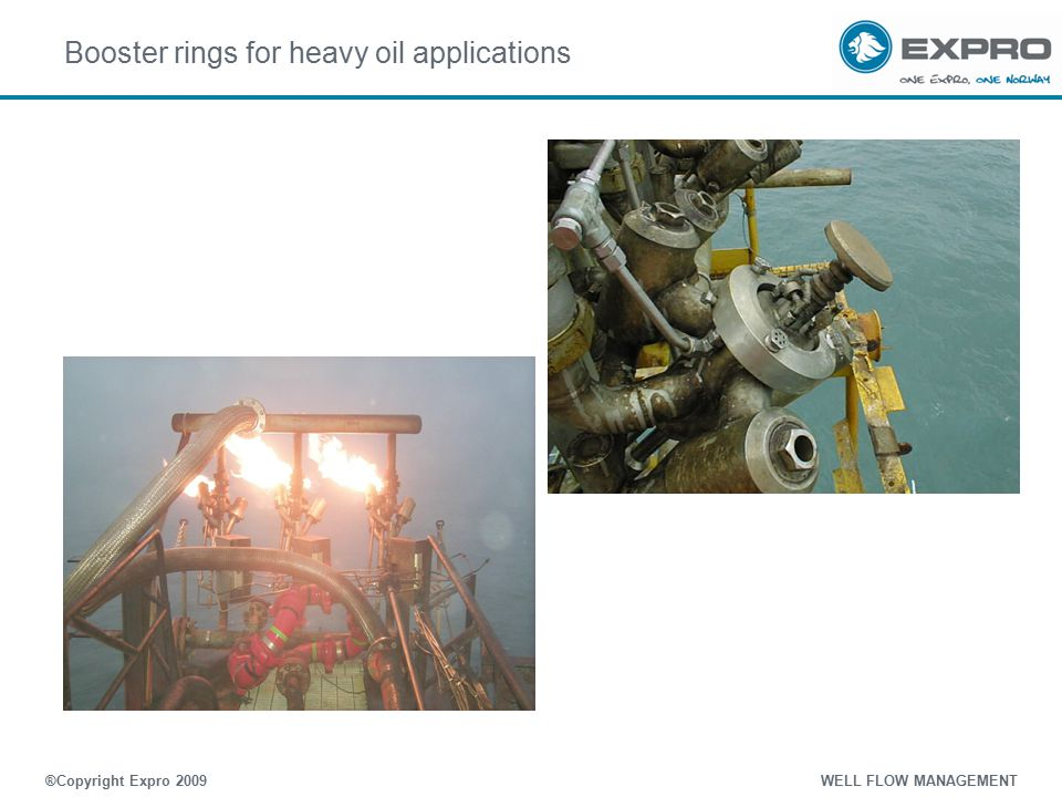 Booster rings for heavy oil applications ®Copyright Expro 2009 WELL FLOW MANAGEMENT