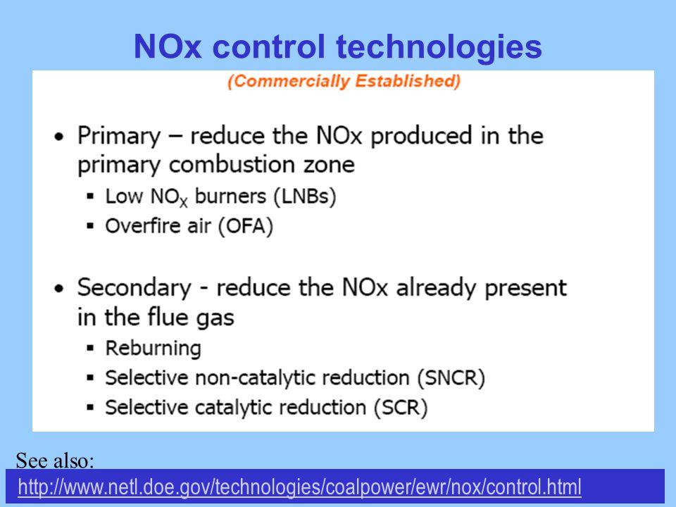 NOx control technologies http://www.netl.doe.gov/technologies/coalpower/ewr/nox/control.html See also: