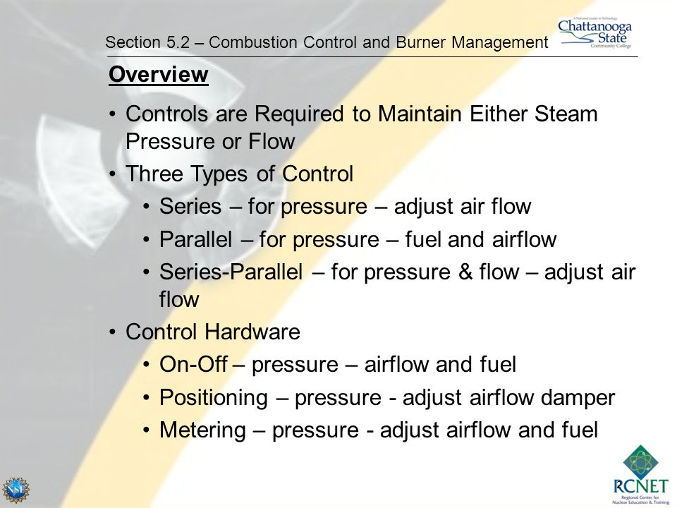 3 Section 5.2 – Combustion Control and Burner Management Control SeriesParallel Series - Parallel