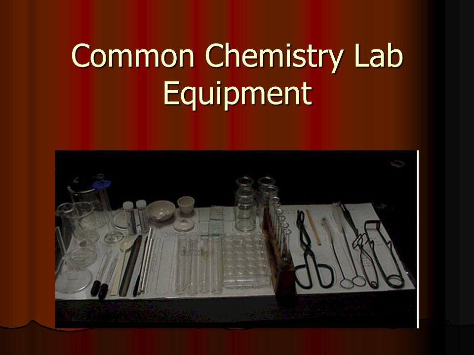 Common Chemistry Lab Equipment