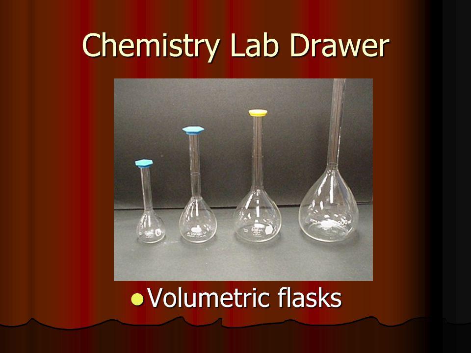 Chemistry Lab Drawer Volumetric flasks Volumetric flasks