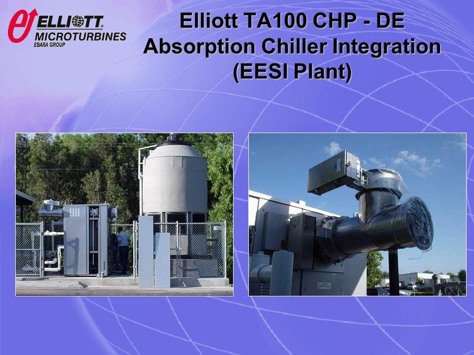 Elliott TA100 CHP - DE Absorption Chiller Integration (EESI Plant)