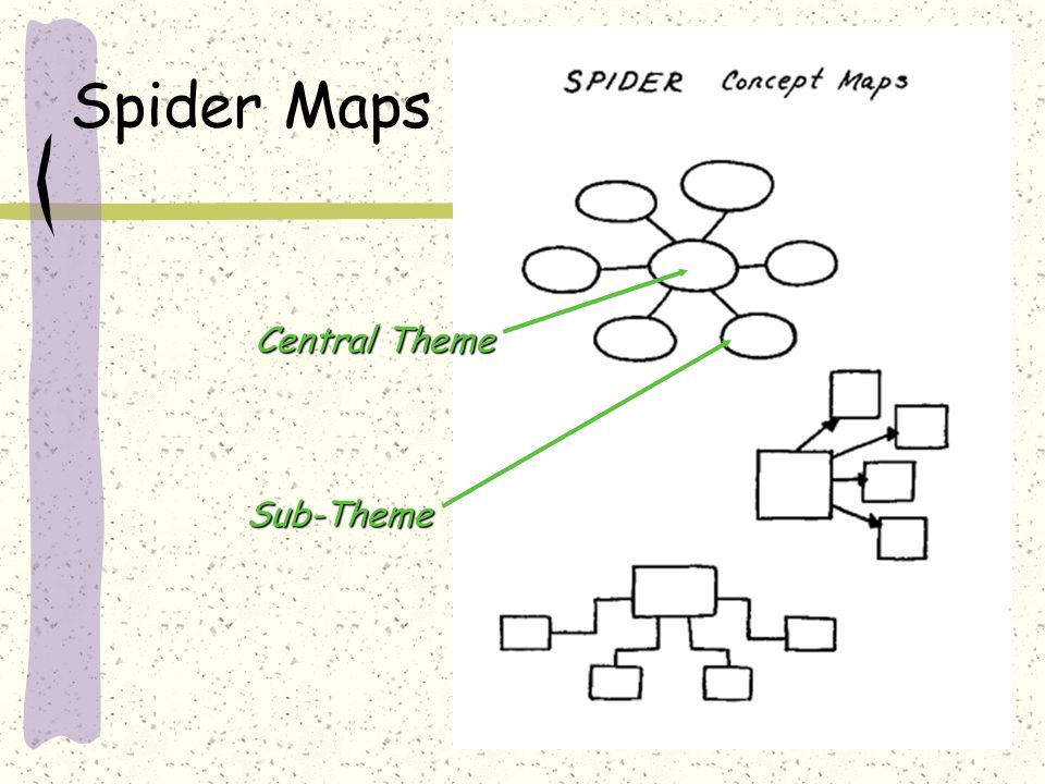 Spider Maps Central Theme Sub-Theme