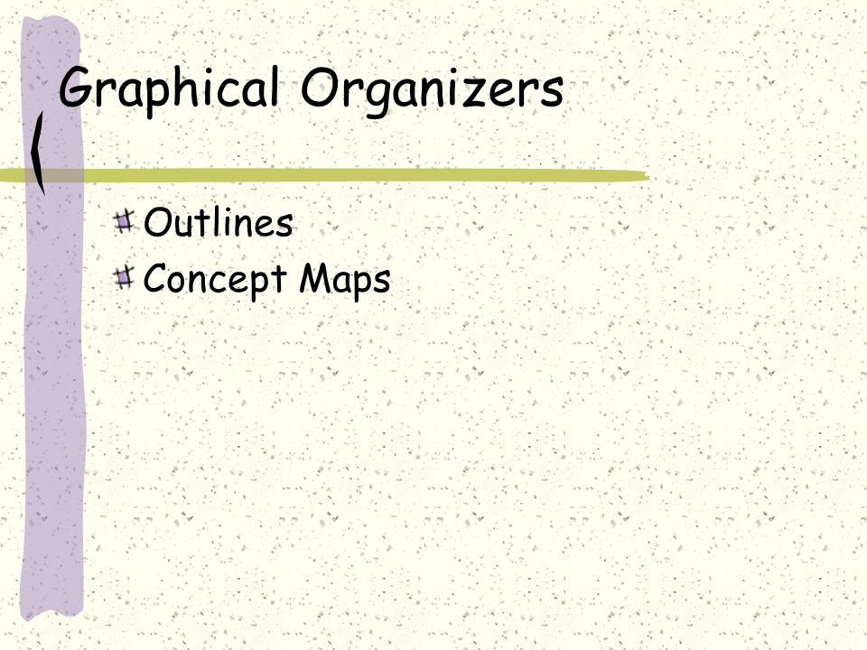 Graphical Organizers Outlines Concept Maps