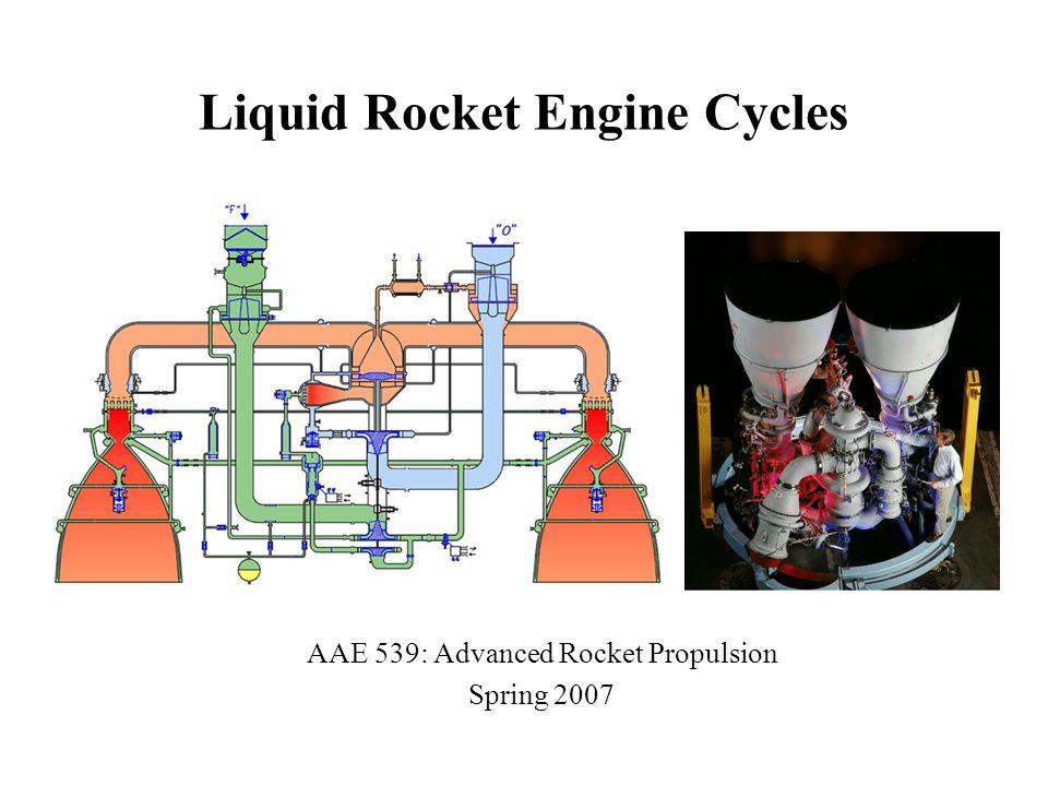 Liquid Rocket Engine Cycles AAE 539: Advanced Rocket Propulsion Spring 2007