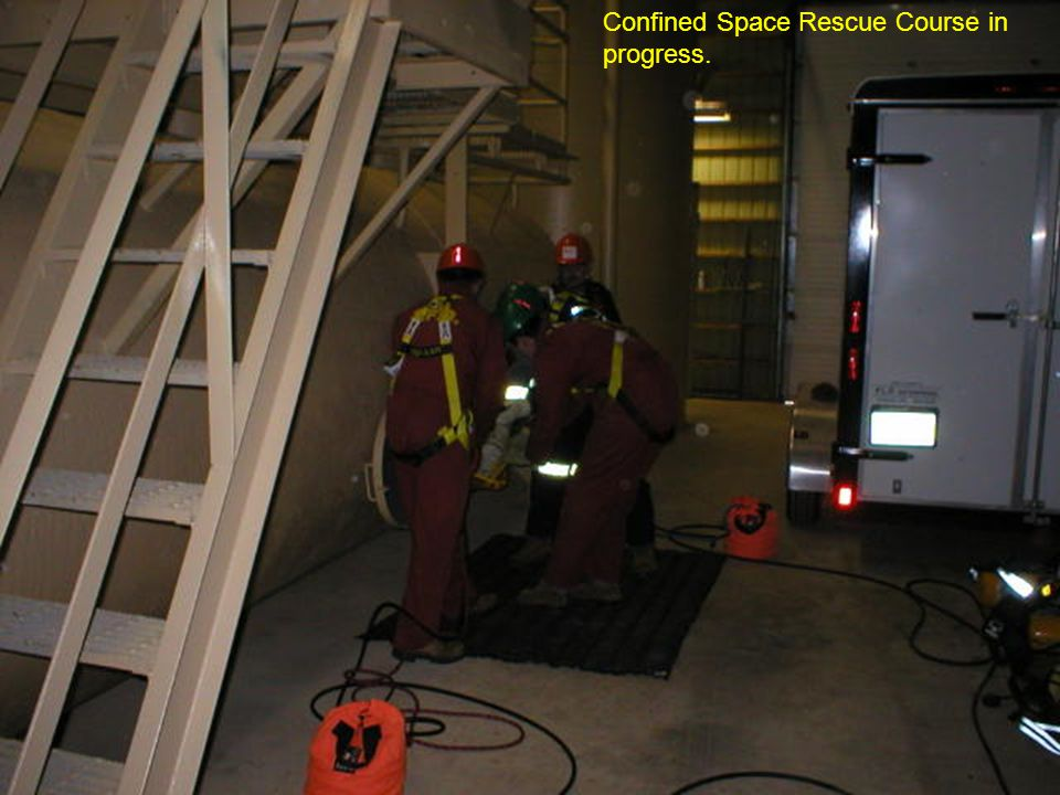 Confined Space Rescue Course in progress.