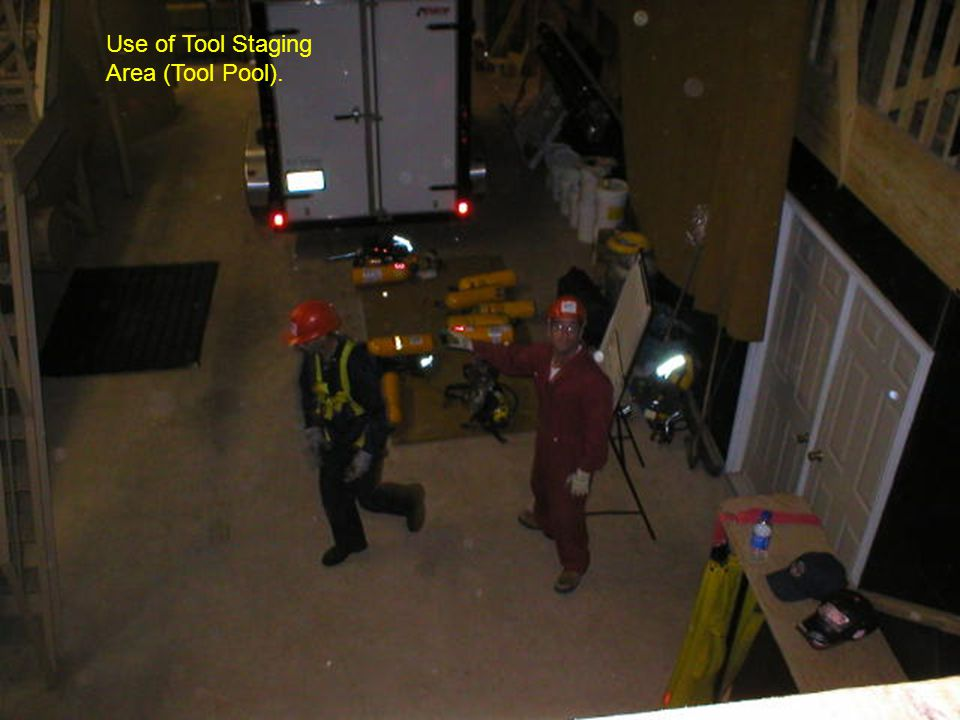 Use of Tool Staging Area (Tool Pool).