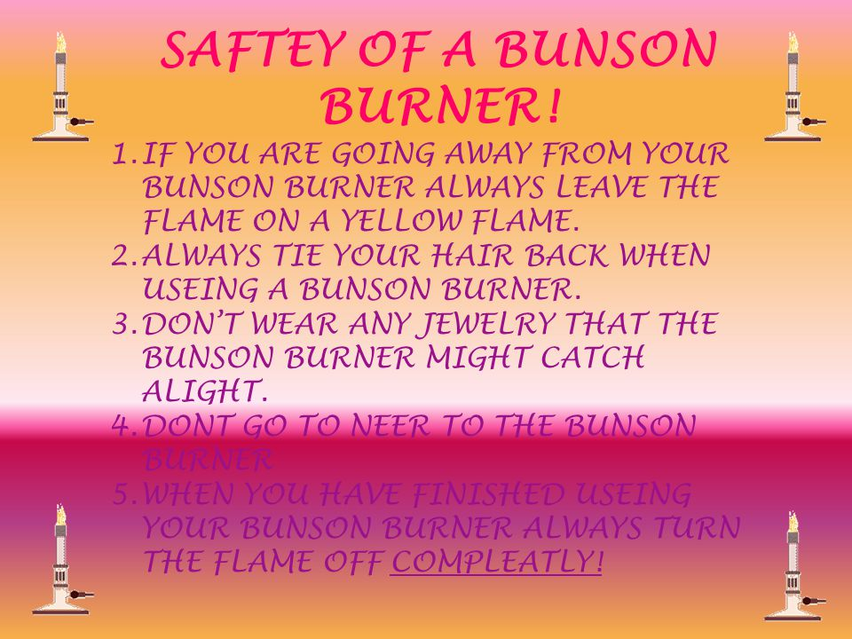 HOW TO SET UP A BUNSON BURNER.1. GET THE BUNSON BURNER FROM THE CUPBOARD.