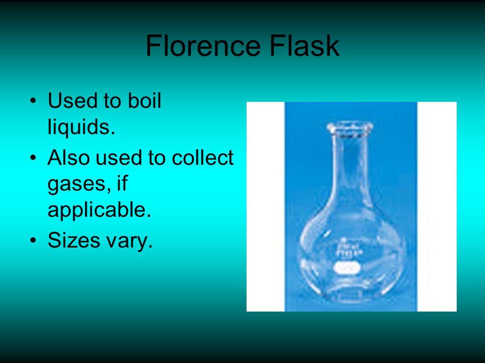 Volumetric Flask Used to prepare precise standard solutions.