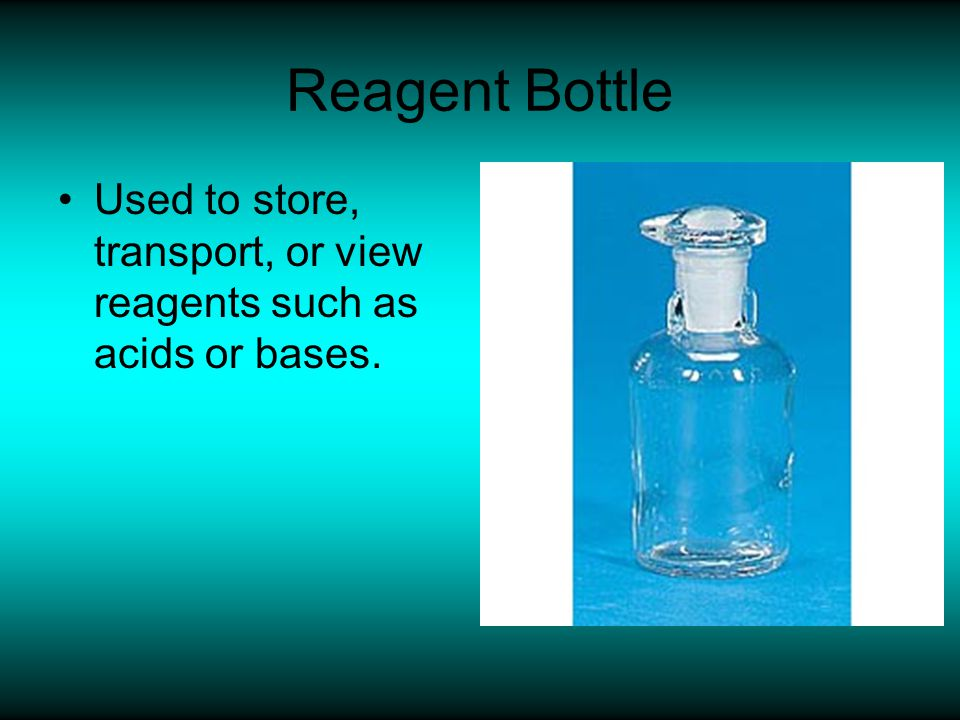 Watch Glass Used to show chemical reactions.