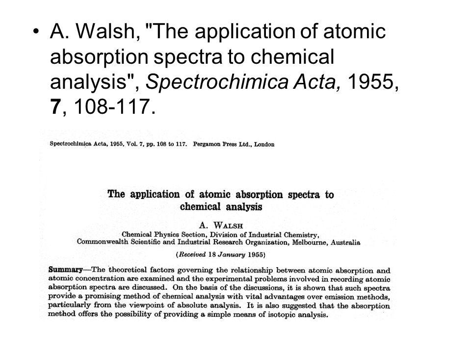 A. Walsh,