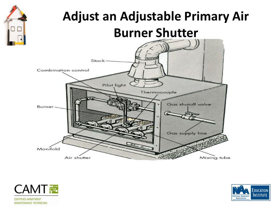 Adjust an Adjustable Primary Air Burner Shutter