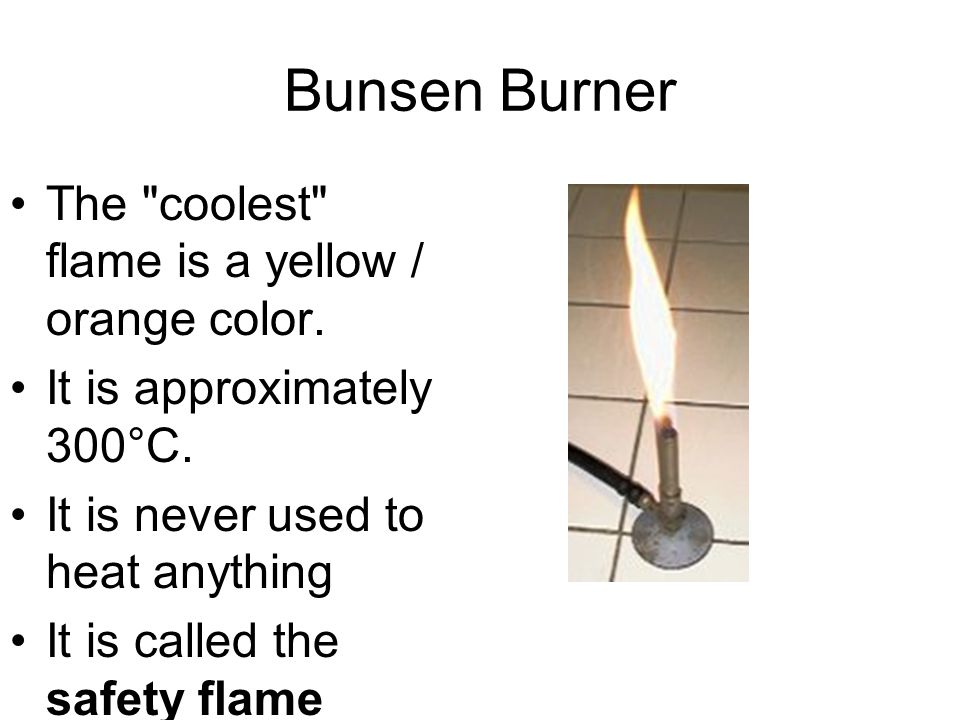 Introduction The Bunsen burner is used in laboratories to heat things.