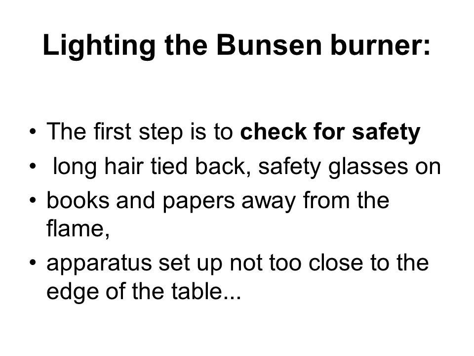Bunsen Burner.