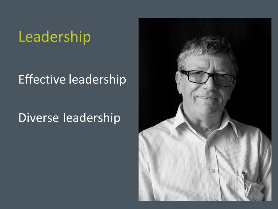 Leadership Effective leadership Diverse leadership