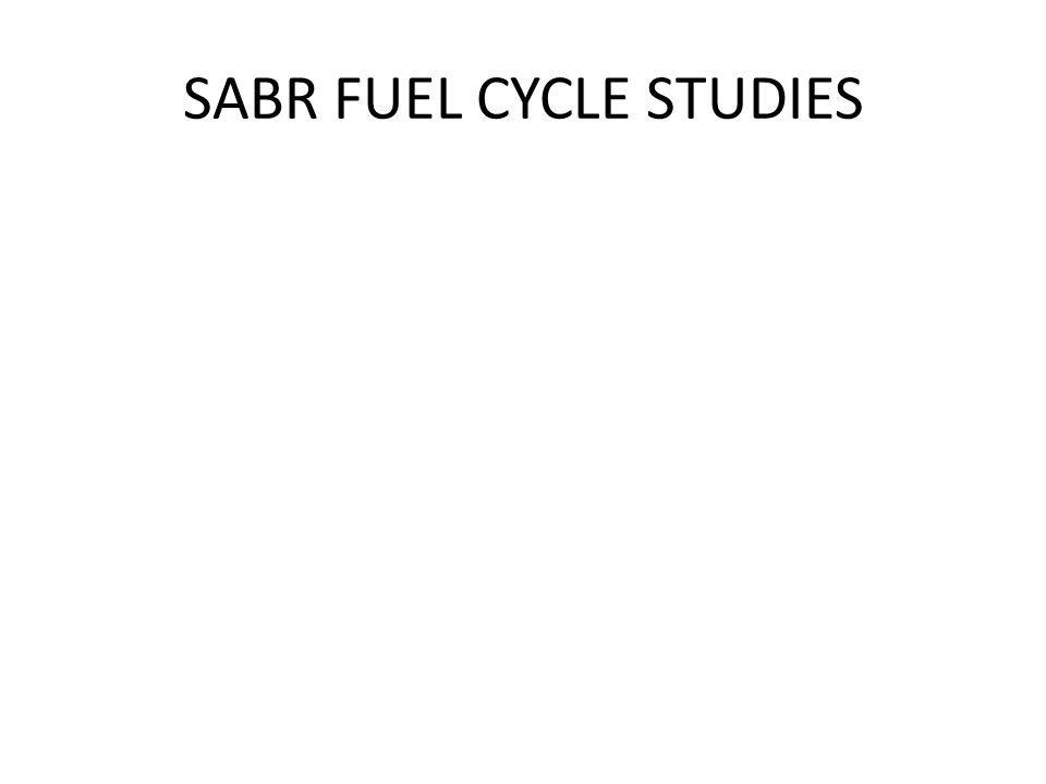 SABR FUEL CYCLE STUDIES