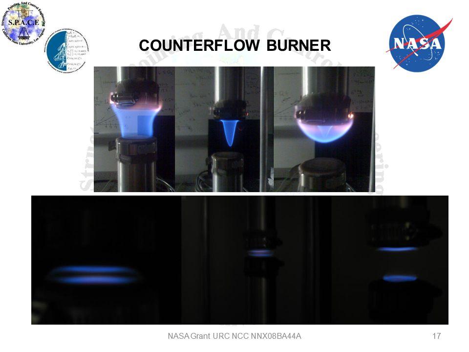 COUNTERFLOW BURNER NASA Grant URC NCC NNX08BA44A17 NASA Grant URC NCC NNX08BA44A
