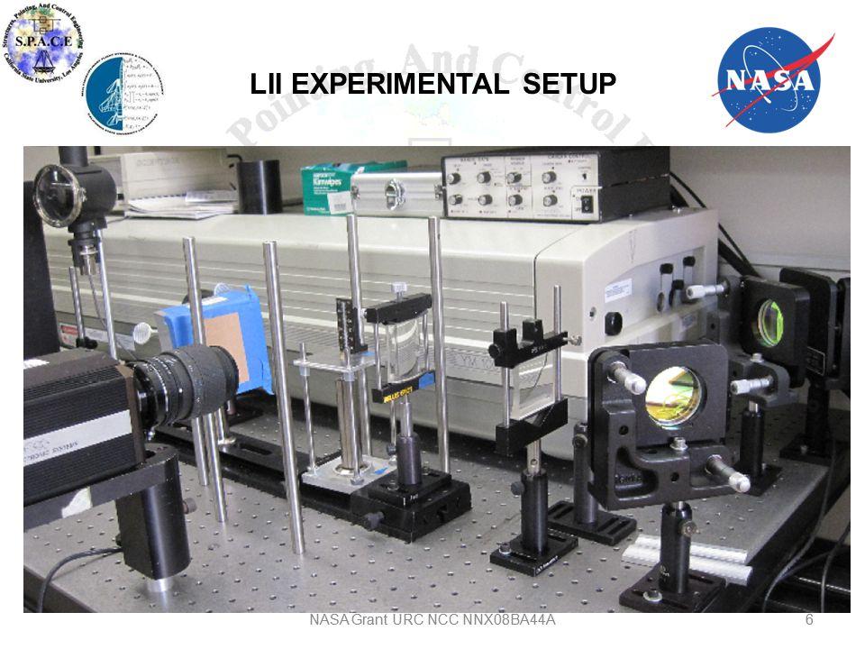 6 LII EXPERIMENTAL SETUP 6NASA Grant URC NCC NNX08BA44A