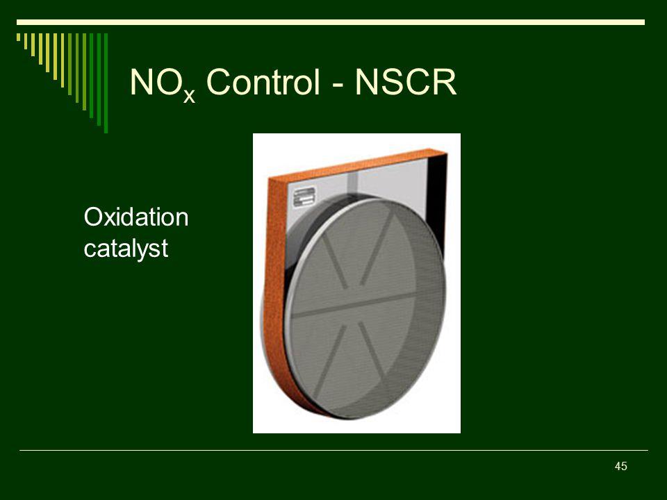 NO x Control - NSCR Oxidation catalyst 45