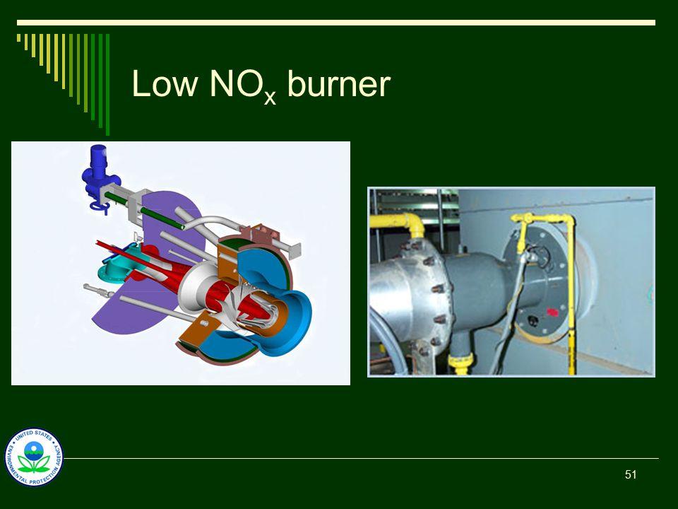 Low NO x burner 51