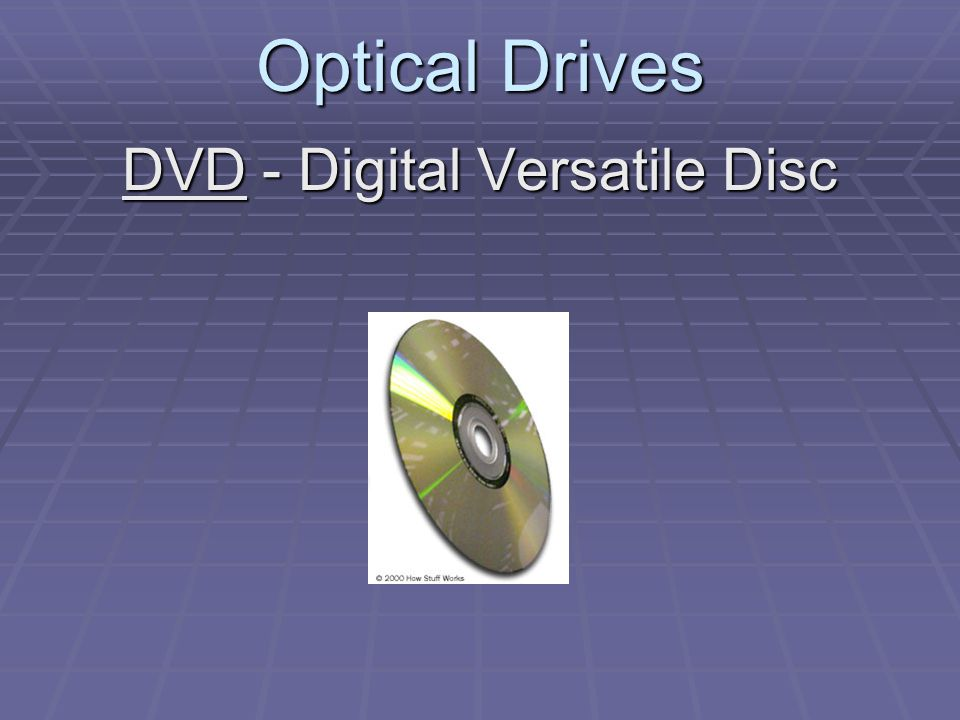 Optical Drives DVD - Digital Versatile Disc
