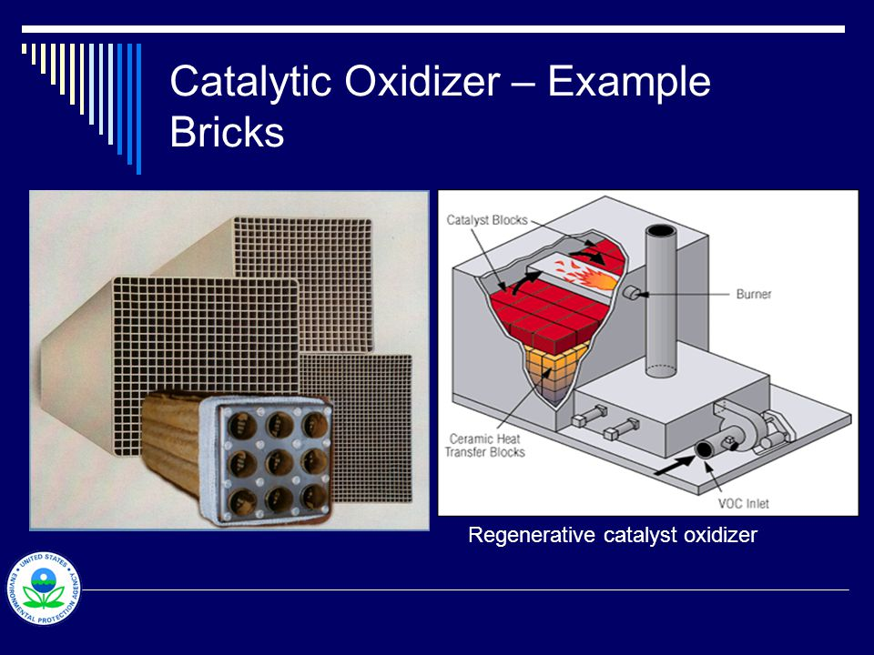 Catalytic Oxidizer – Example Bricks Regenerative catalyst oxidizer