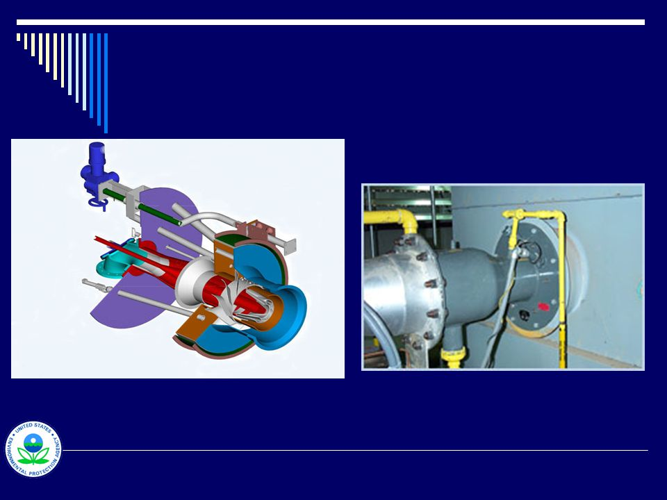 NO x control – Low-NO x burners Performance monitoring  NO x concentration (CEMS)  Parametric monitoring Periodic testing and inspections Inspection and maintenance  Daily - flame failure detector, A/F recordings  Weekly - igniter and burner operation  Monthly - fan, fuel safety shutoff, interlocks, fuel pressure  Annually – system-wide, instrument calibration