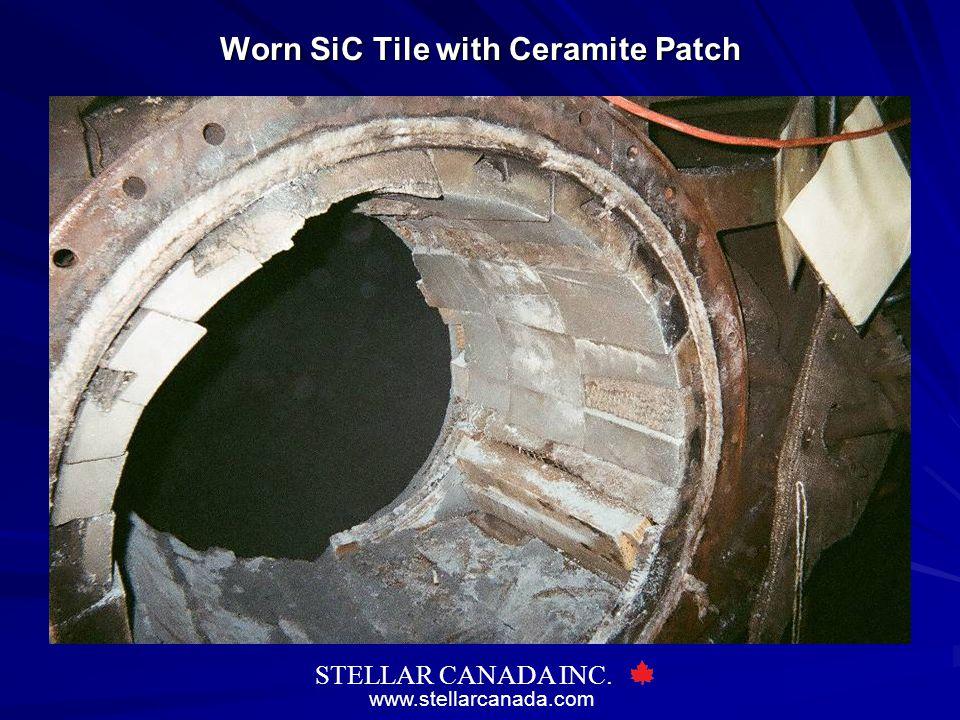 www.stellarcanada.com STELLAR CANADA INC. Worn SiC Tile with Ceramite Patch