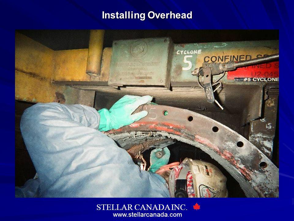 www.stellarcanada.com STELLAR CANADA INC. Installing Overhead