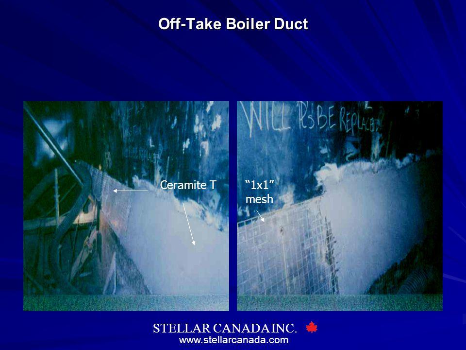 "www.stellarcanada.com STELLAR CANADA INC. Off-Take Boiler Duct ""1x1"" mesh Ceramite T"
