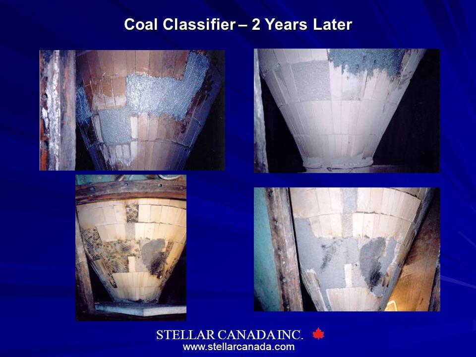 www.stellarcanada.com STELLAR CANADA INC. Coal Classifier – 2 Years Later