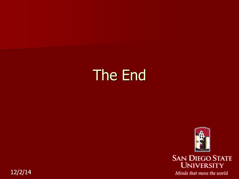 The End 12/2/14
